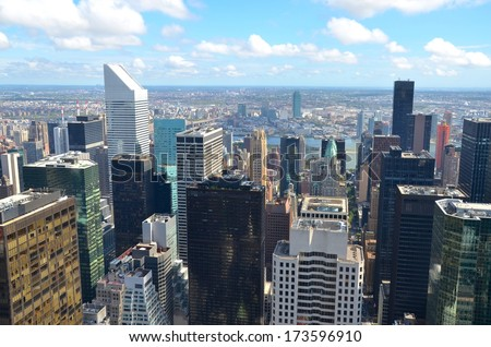 Manhattan Architecture in New York ,USA - stock photo
