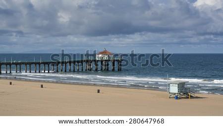 Manhattan Beach Pier California - stock photo