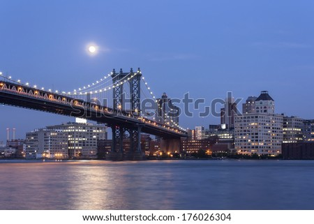Manhattan Bridge and Brooklyn Night Shot
