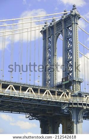 Manhattan Bridge, New York City - stock photo