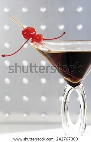 Manhattan cocktail, close-up - stock photo