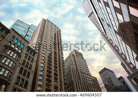 Manhattan modern architecture. Manhattan is the most densely populated of the five boroughs of New York City