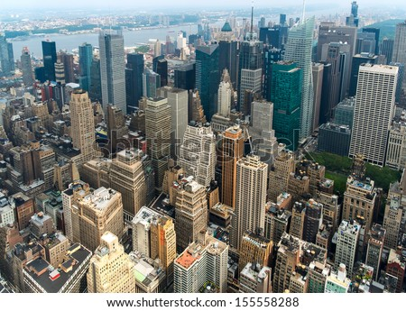 Manhattan New York - stock photo