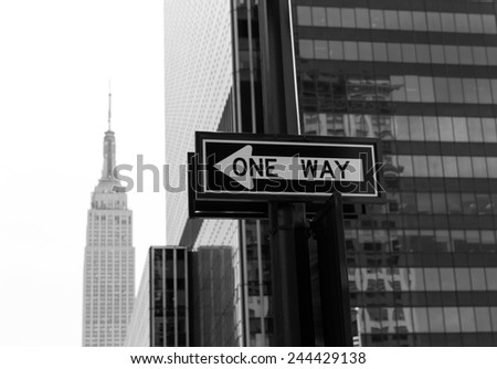 Manhattan New York 8th Av NY city downtown NYC US - stock photo