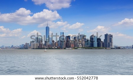 Manhattan skyline, New York.