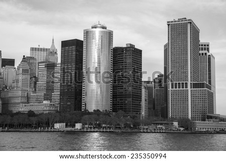 Manhattan skyline - New York City.