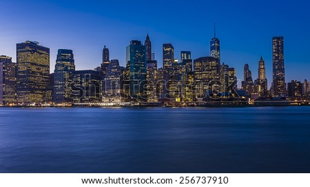 Manhattan Skyline ,NYC - stock photo