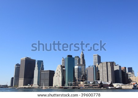 Manhattan skyline on a Clear Blue day