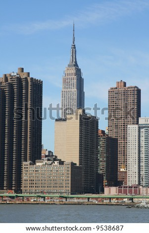 Manhattan skyline on a Clear Blue day, New York City