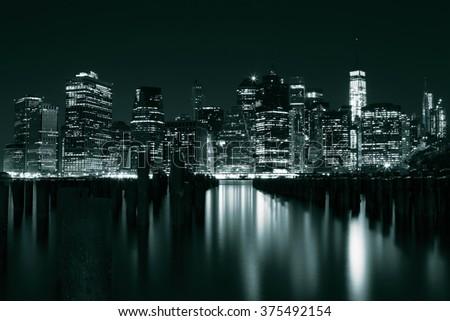 Manhattan view - stock photo