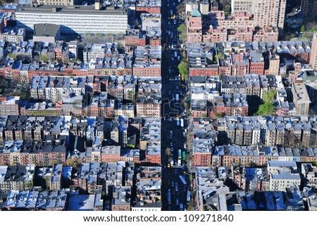 Manhattan villages, New York - stock photo