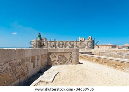 Maniace Castle fortification. Syracuse, Sicily, Italy.