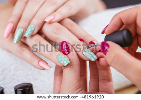 Fingernail stock images royalty free images vectors shutterstock manicure beauty treatment photo of nice manicured woman fingernails very nice feminine nail art prinsesfo Image collections
