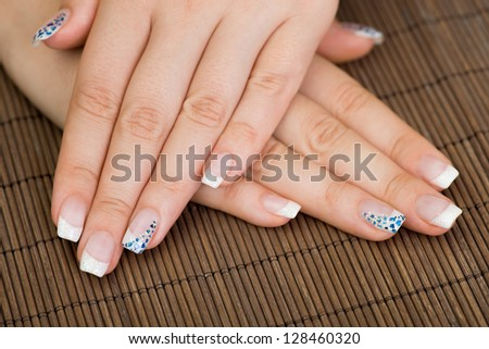 Manicure - Close-up of beautiful manicure treatment.