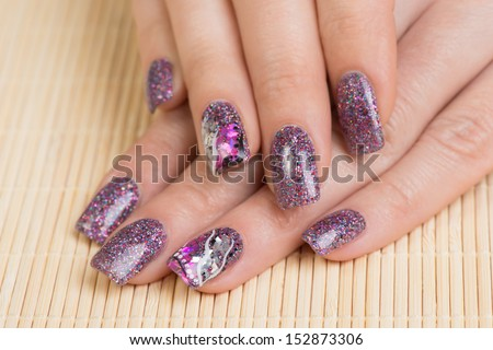 Manicure Professionally Manicured Woman Fingernails Interesting