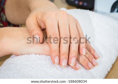 manicured hands - stock photo