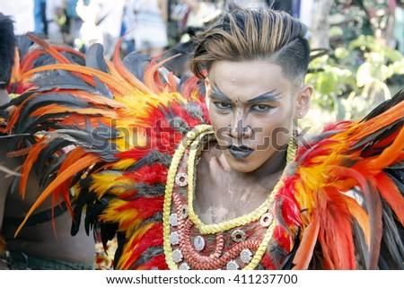 "MANILA APRIL 16: Contingent in The Aliwan Fiesta on April 16, 2016 in Manila, Philippines. Aliwan celebrated with cultural presentation & street dance competition. ""editorial"""