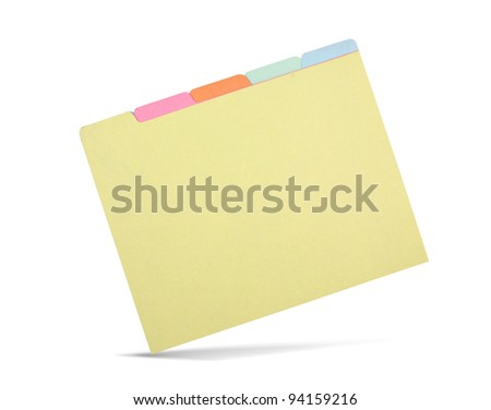 Manila folder isolated on white - stock photo