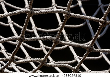 Manila rope. - stock photo