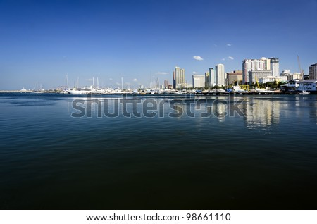 Manila skyline on a clear day - stock photo