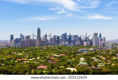 Manila skyline, Philippines. - stock photo