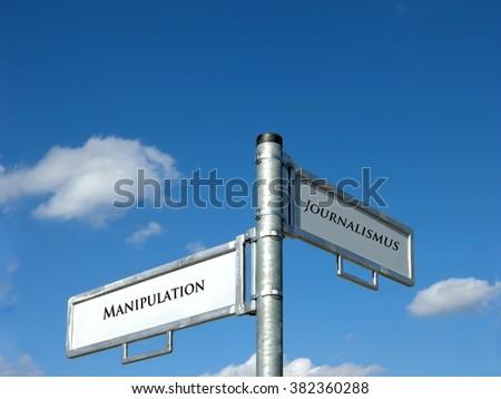 Manipulation - Journalism - stock photo
