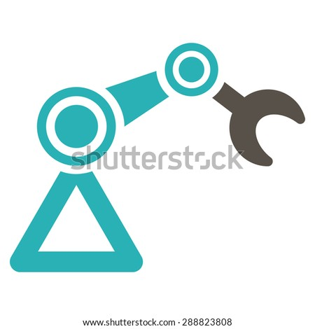 Manipulator icon from Business Bicolor Set. This flat raster symbol uses grey and cyan colors, rounded angles, and isolated on a white background. - stock photo