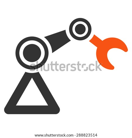 Manipulator icon from Business Bicolor Set. This flat raster symbol uses orange and gray colors, rounded angles, and isolated on a white background. - stock photo