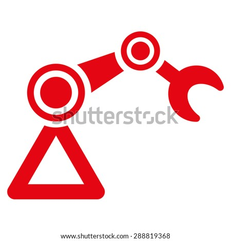 Manipulator icon from Business Bicolor Set. This flat raster symbol uses red color, rounded angles, and isolated on a white background. - stock photo