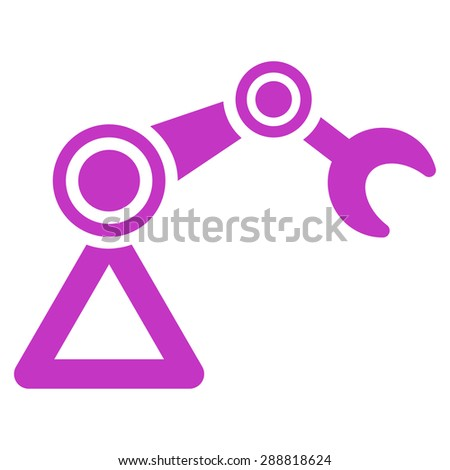 Manipulator icon from Business Bicolor Set. This flat raster symbol uses violet color, rounded angles, and isolated on a white background. - stock photo