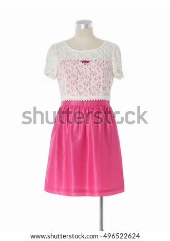 mannequin in female clothes â??white background