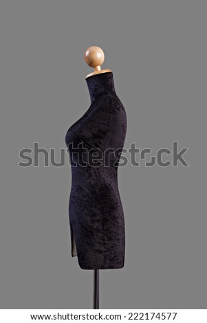 mannequin isolated on Gray background.