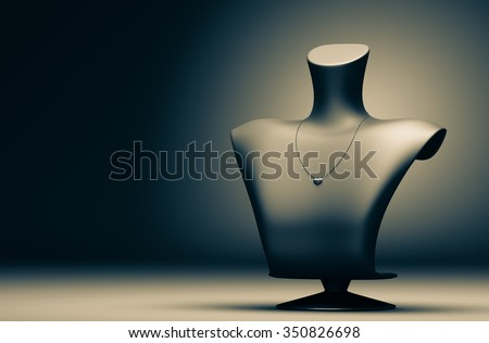 Mannequin jewelry in the background 3d rendering. - stock photo