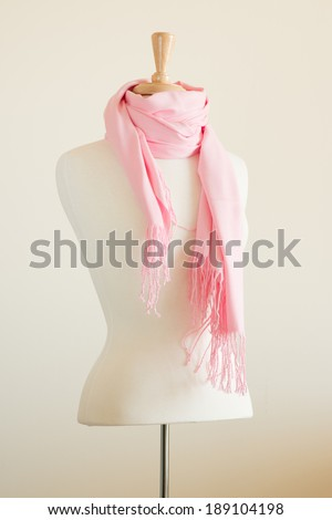 Mannequin Torso displayed with Wrap Scarf Shawl
