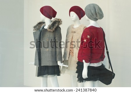 mannequin winter fashion  - stock photo