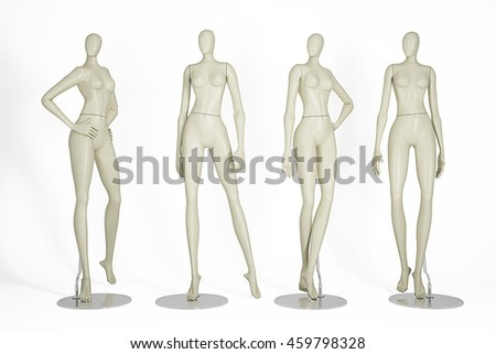 Mannequins isolated on white background.3D illustration