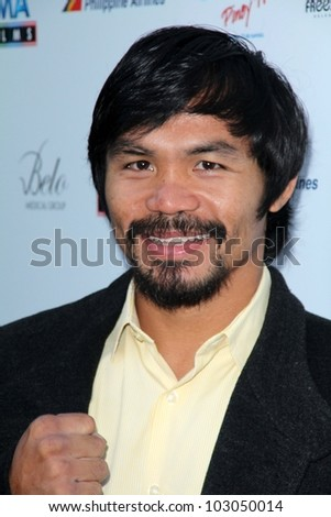 "Manny Pacquiao at ""The Road"" North American Premiere, Arclight, Hollywood, CA 05-09-12 - stock photo"