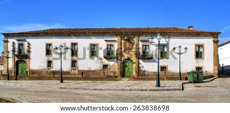 Manor house of Saraivas in Vilar Torpim, Portugal - stock photo