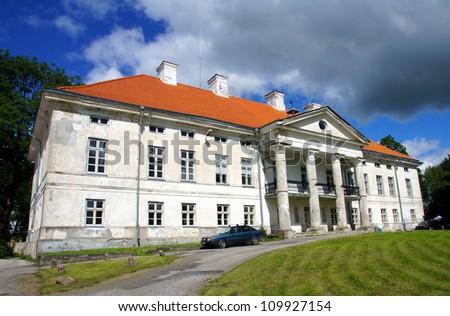 Manor in the west of Estonia. 18 century. Lihula. - stock photo