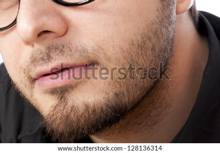 Mans beard in close up - stock photo