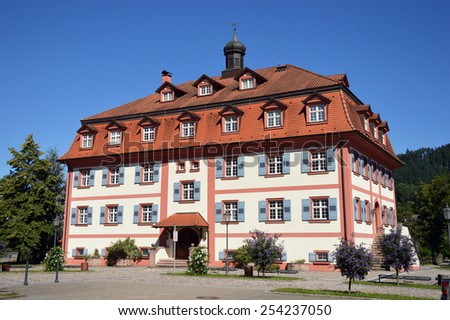 Mansion built in Baroque style is used as a heritage Museum in Hausach, Baden-Wurttemberg, Germany - stock photo