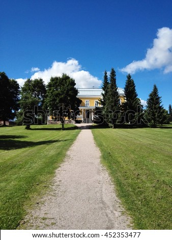 Mansion of Luukki and outdoor recreational area in Espoo, Southern Finland. Captured on July 14th 2016.