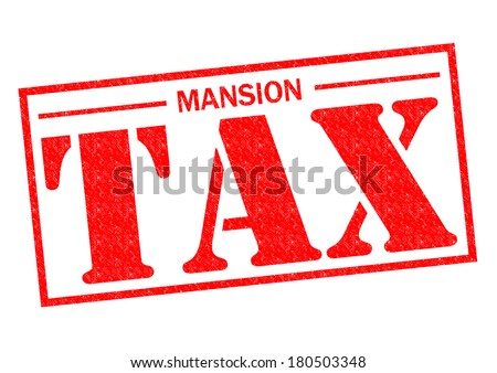 MANSION TAX red Rubber Stamp over a white background. - stock photo