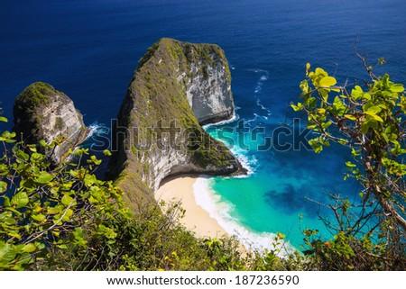 manta bay, the island of Nusa Penida, Indonesia - stock photo