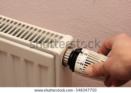 Manual adjustment Radiator with thermostatic valve - photo
