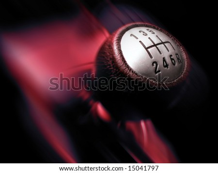 Manual Gearbox - fast motion concept - stock photo