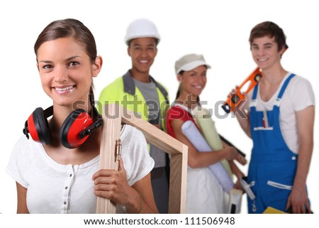 Manual workers - stock photo