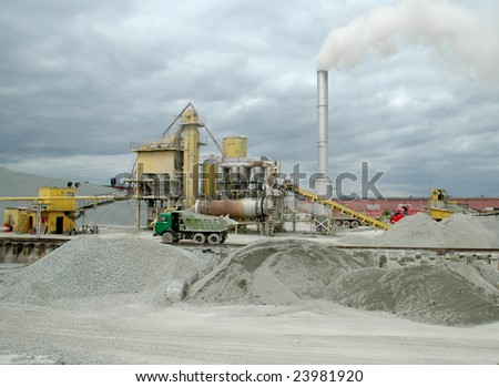 manufacture of cement - stock photo
