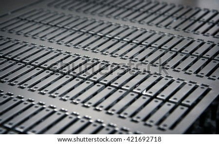 manufactured metal plate from cnc machine