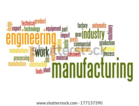 Manufacturing word cloud - stock photo